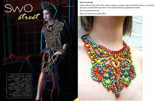 """Jolita feature as a """"colourful luxury"""" in a Lithuanian fashion magazine SWO"""