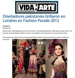 Fashion Parade event for Save The Children Charity, featured in Vida Y Arte. Jolita Jewellery pieces showcased with Nomi Ansari designs on the catwalk.
