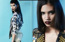 Rock n Roll shoot in SYN magazine's December 2012 issue featuring Jolita Jewellery skull pieces from Voodoo and Arachne collections