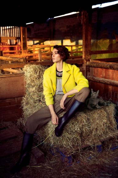 Outland editorial for DNA magazine - in braided Turin statement necklace by Jolita Jewellery