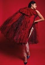 Demur Magazine, April 2015 - Fire and Desire Editorial, featuring Jolita Jewellery's crystal Debutante earrings