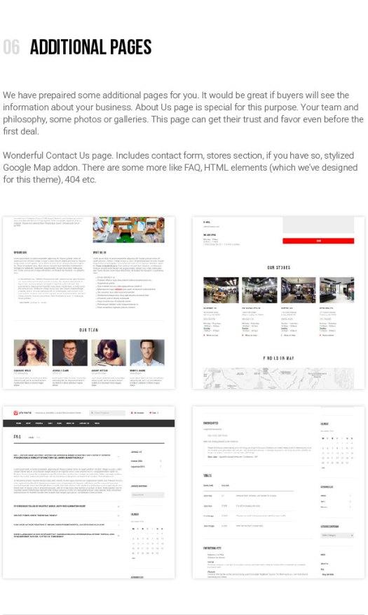 jOLiSHOP - Additional Pages