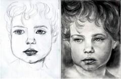 A jobb agyféltekés tanfolyam első és harmadik napján készült rajz ugyanattól a hallgatótól