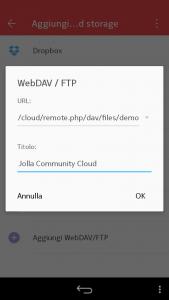 WPS Office - Aggiungi WebDAV/FTP