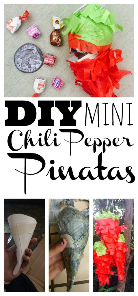 DIY Mini Chili Pepper Pinatas