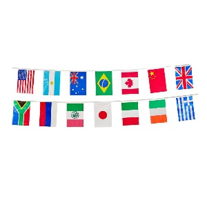 amazing race world flags banner
