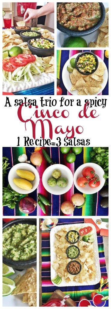 Easy salsa recipe 3 ways for Cinco de Mayo fiesta