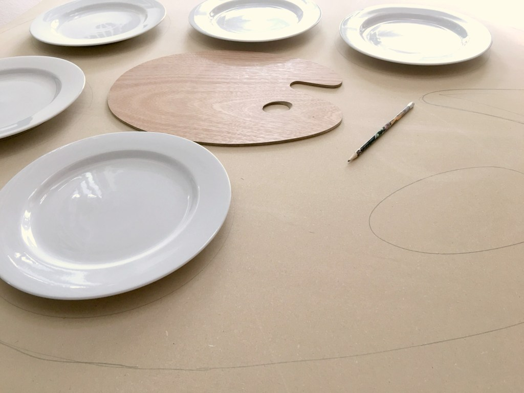 DIY Table Top Art Palette