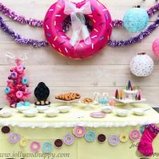 Christmas Donut Bar Party