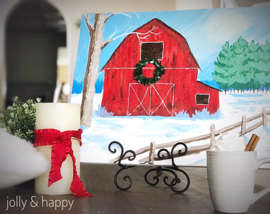 winter farm paint party and cocoa bar