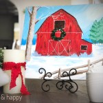 Winter Farm Paint Party and Hot Cocoa Bar with Social Artworking