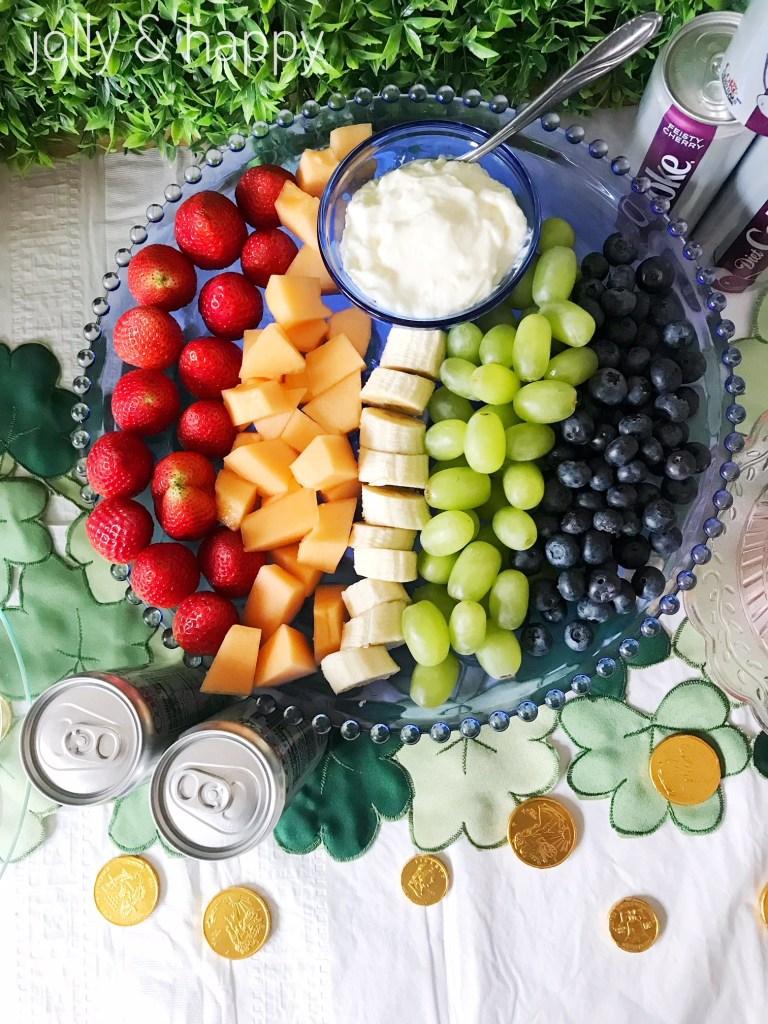 rainbow fruit tray st. patrick's day party