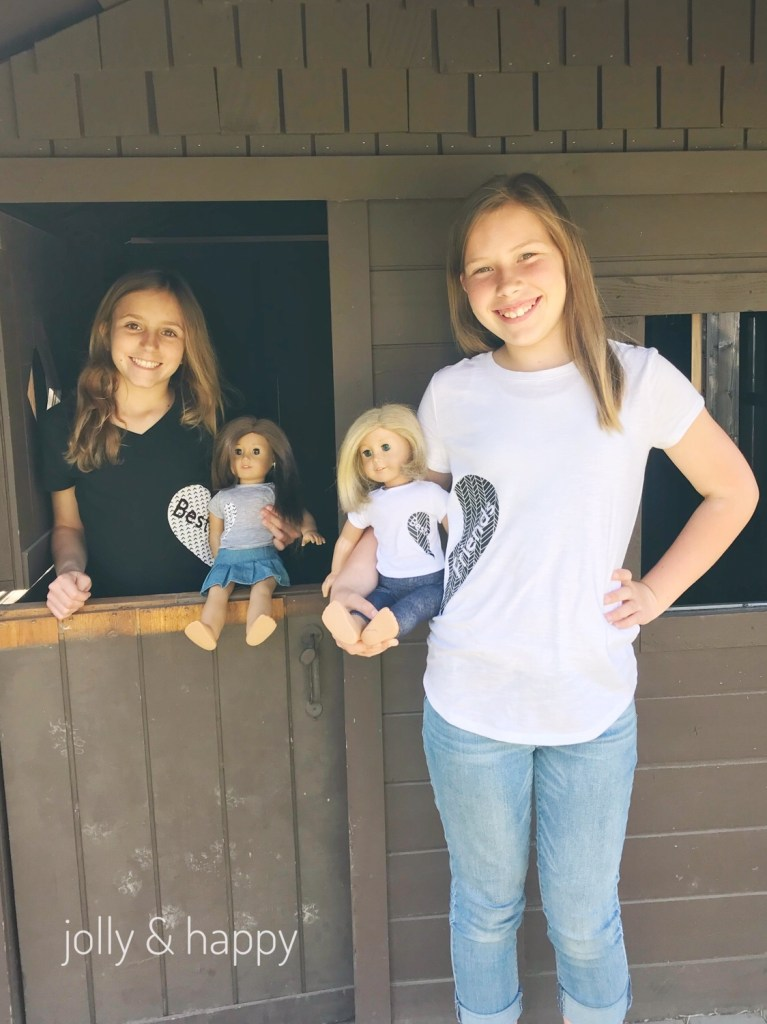 American Girl Doll and me best friend shirt tutorial