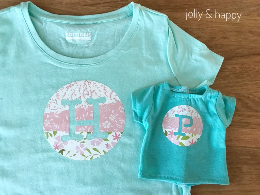 Dolly and Me matching shirts tutorial with Circut