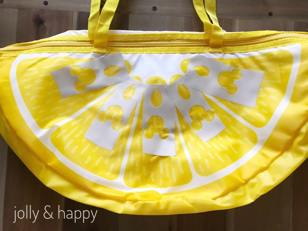 Disney Store Mickey Lemon Wedge Cooler Bag Knockoff