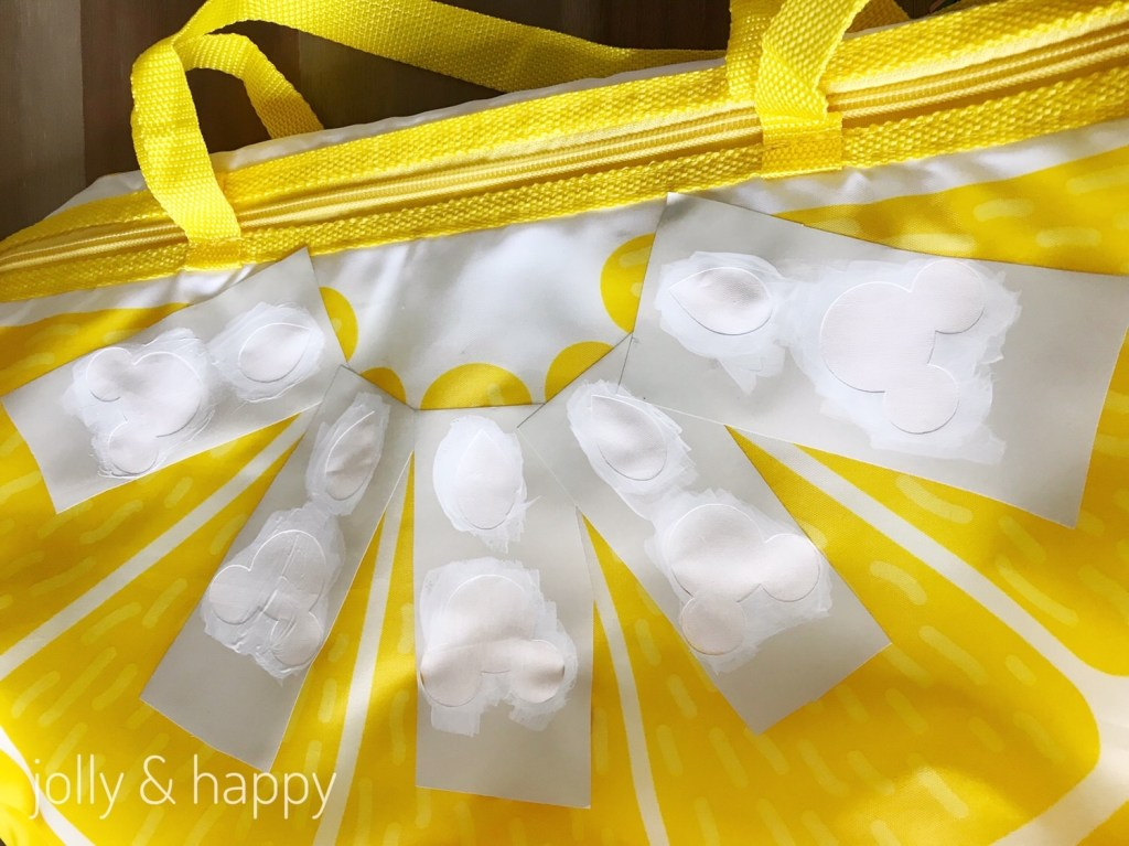 Cricut Stencil DIY Lemon Cooler Bag