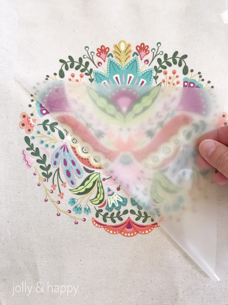 Do on a cool peel on the Cricut Iron on Designs