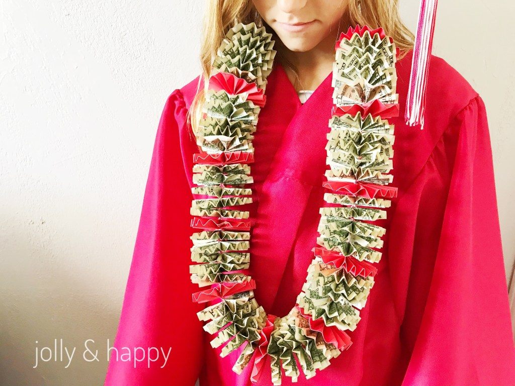 DIY Money Lei for grads