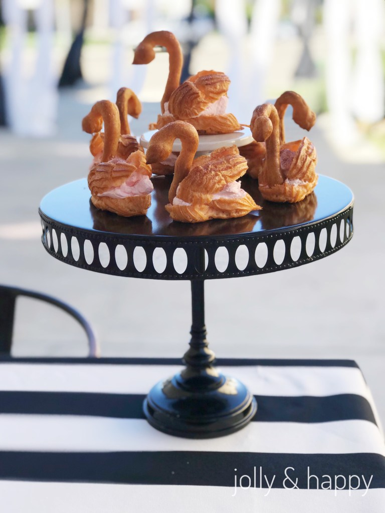 swan cream puffs for graduation party