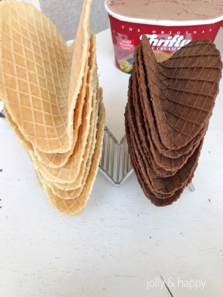 waffle taco shell for ice cream taco bar