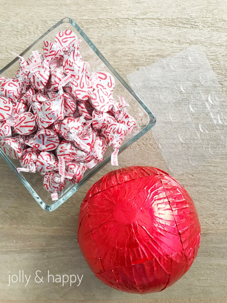 candy cane Hershey kisses