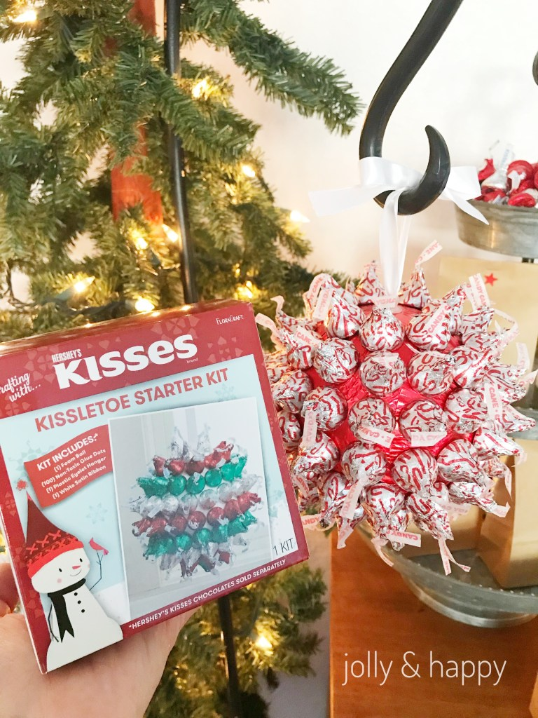 FLoracraft Hershey kisses kissletoe starter kit is a fun craft but can also be a fun party game