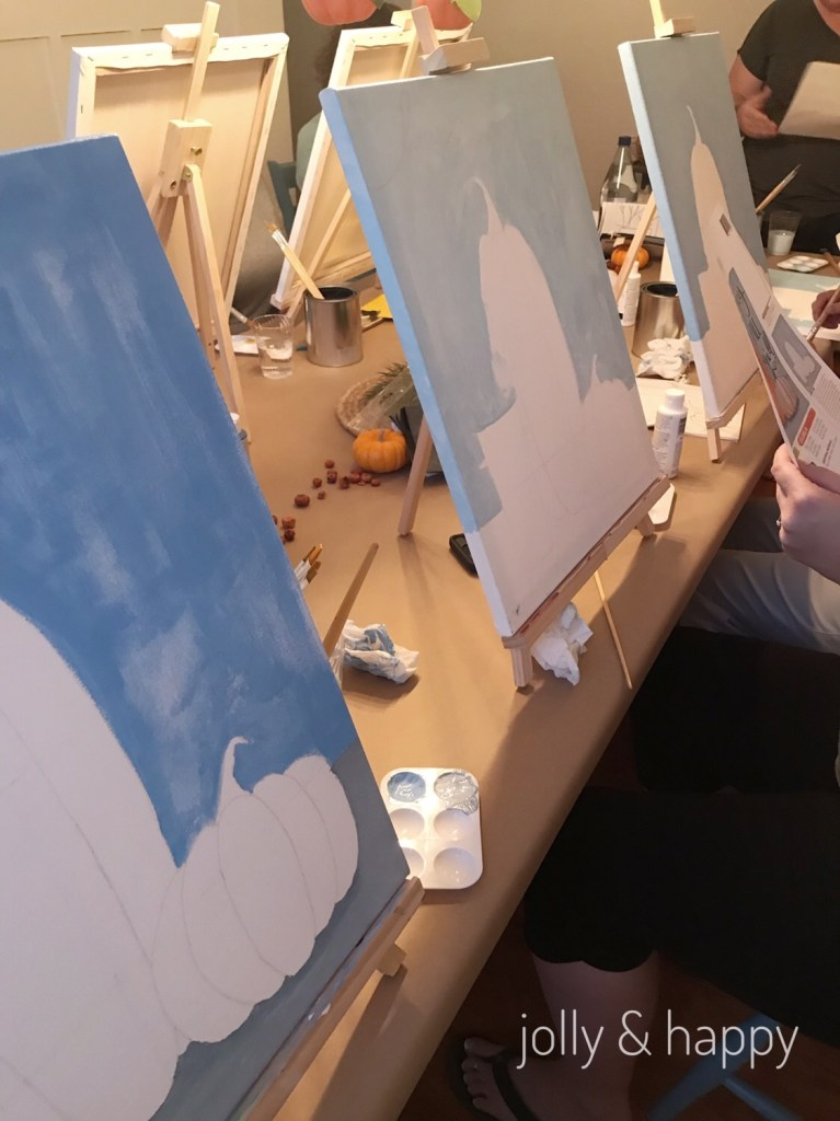 Fall Y'all paint party with friends