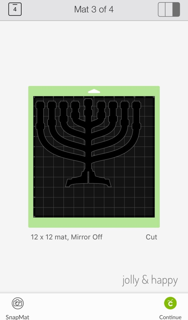 DIY menorah with Cricut