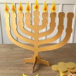 DIY Menorah for Kid's Hanukkah Celebration with Cricut