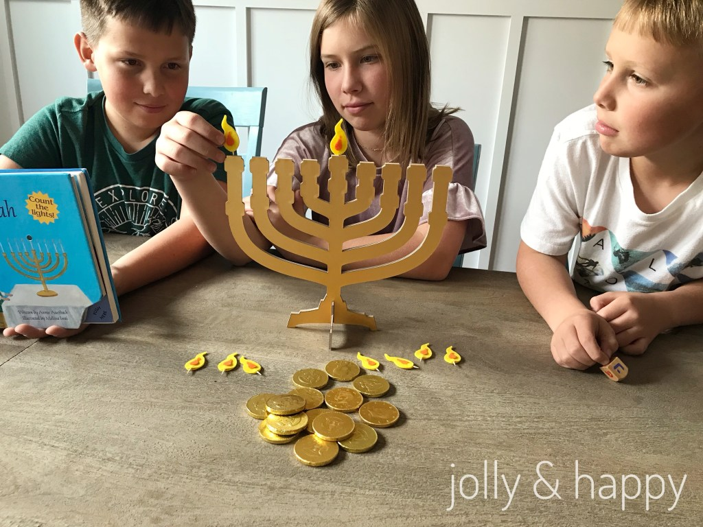 felt flame menorah DIY with Cricut
