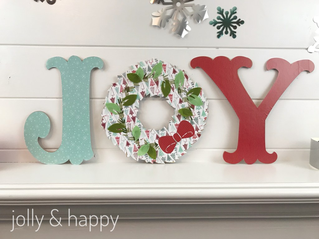 Use the Cricut Maker to make this large Joy letters