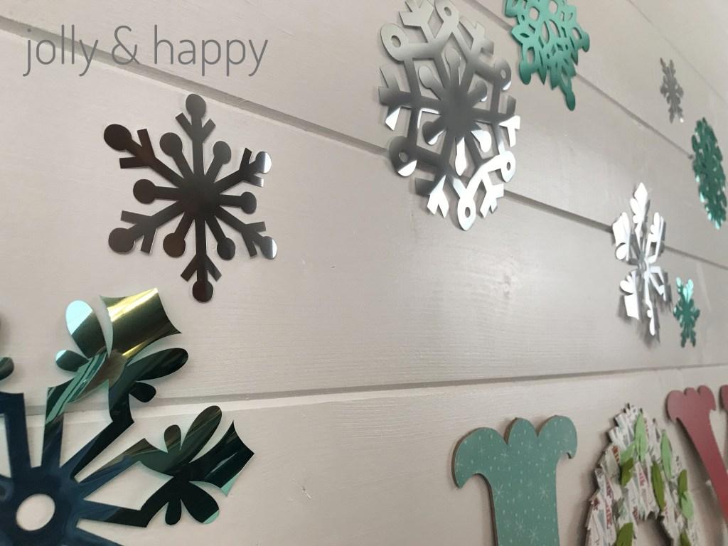 Cricut Party Foil for sparkling snow flakes