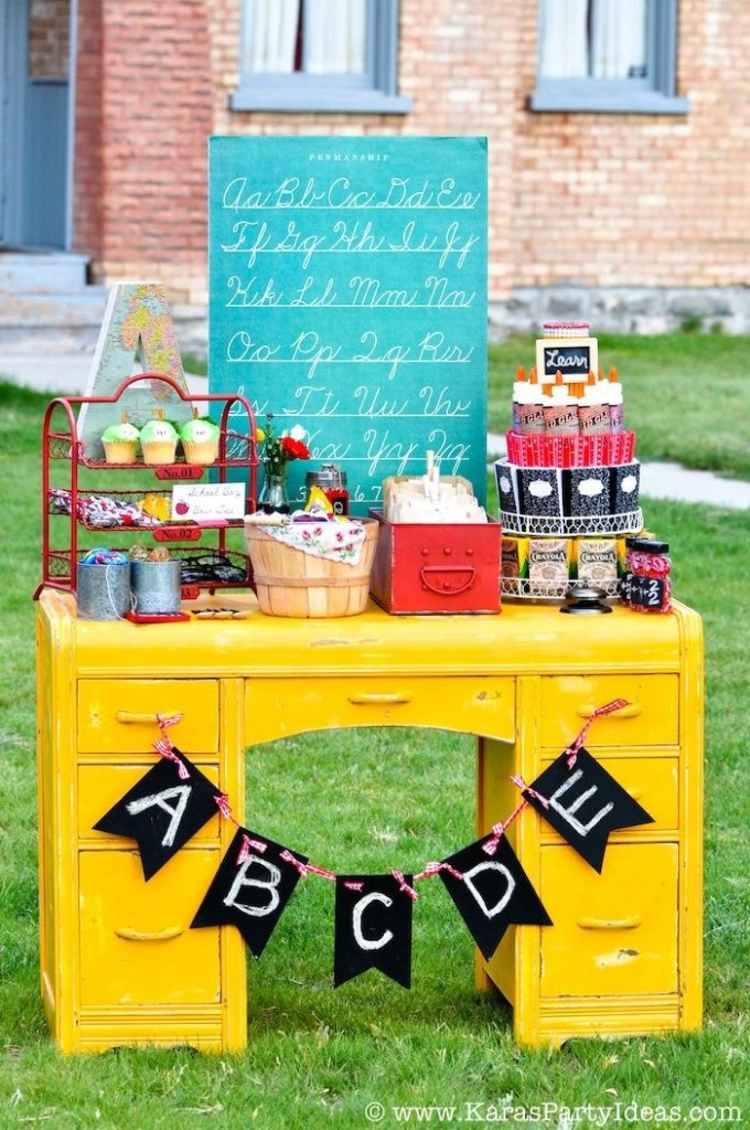 back to school vintage schoolhouse party