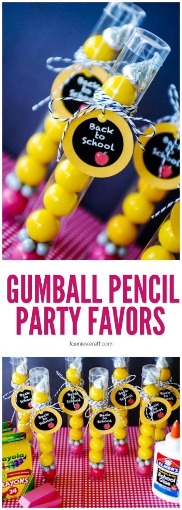 gumboil pencil back to school favors