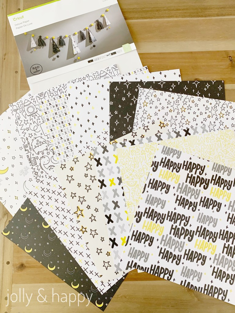 Cricut Deluxe Paper starry night rad & happy