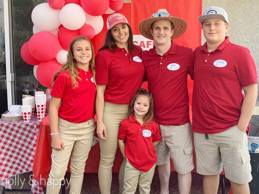 Target Birthday party uniform