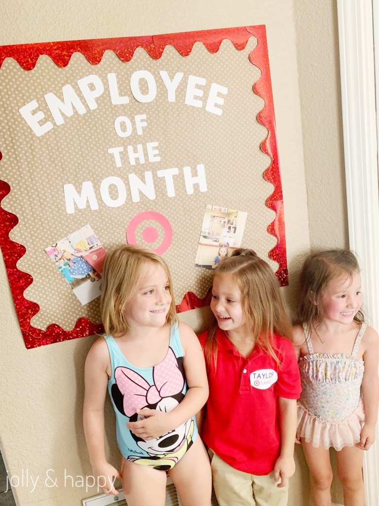 Target Employee of the month photo backdrop