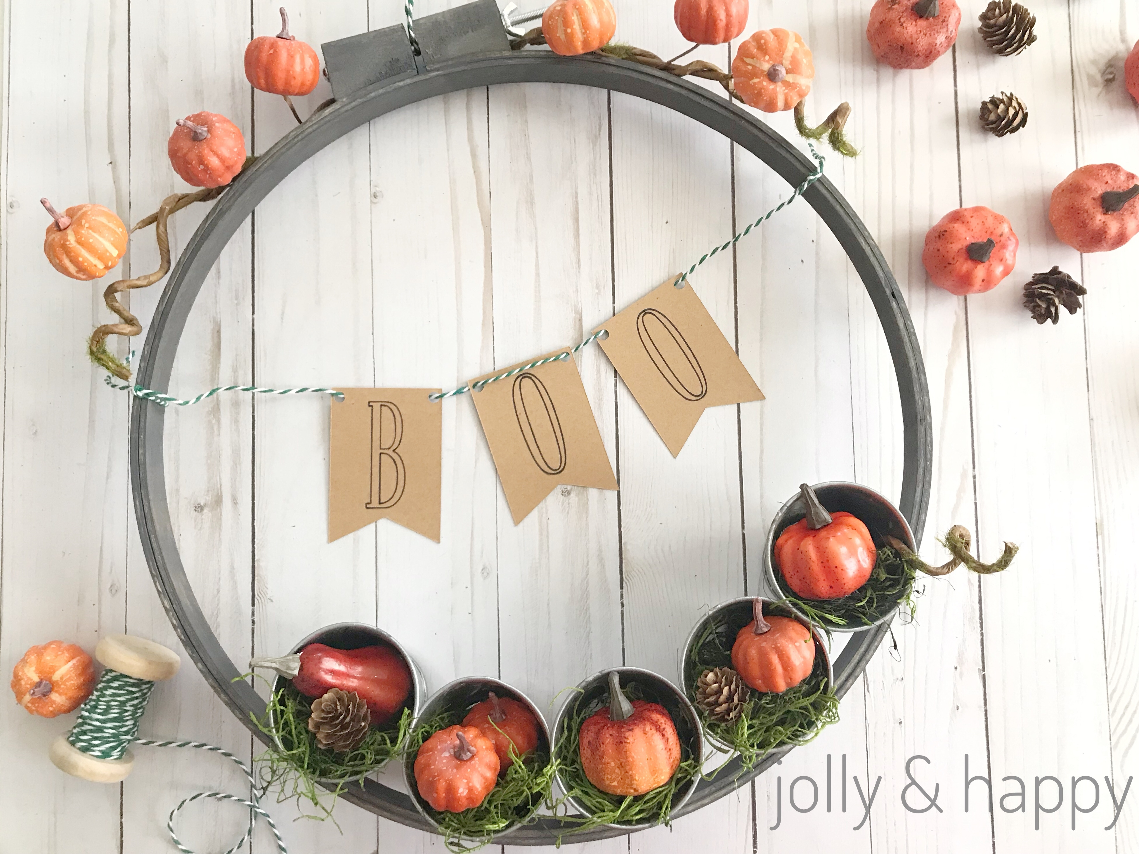 embroidery hoop fall harvest wreath