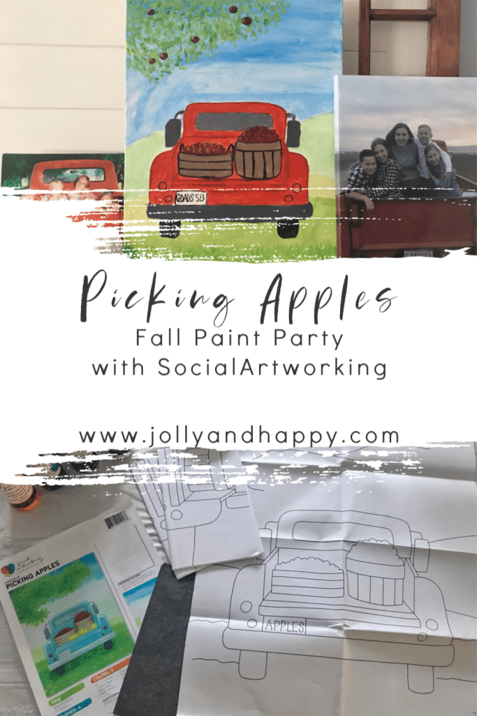 picking apples paint party with social artworking