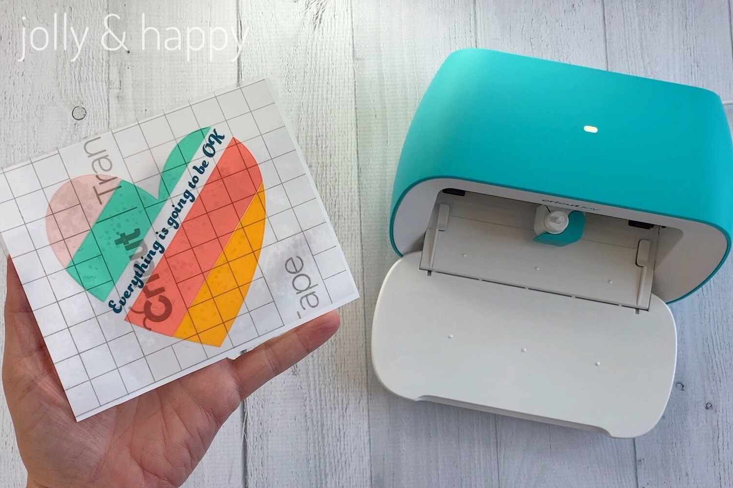 cricut joy vinyl project