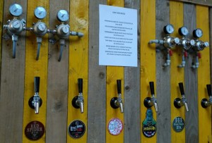 Jolly Good Beer wall