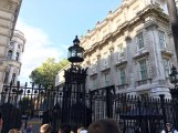 Downing Street (you can see the little sign on the building on the right and that's all that's really interesting about this picture)