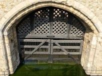 Traitor's gate in the Tower of London- where the took in prisoners by boat