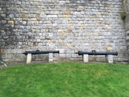 Cannons captured in battle on display