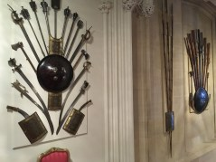 Swords hanging on the wall