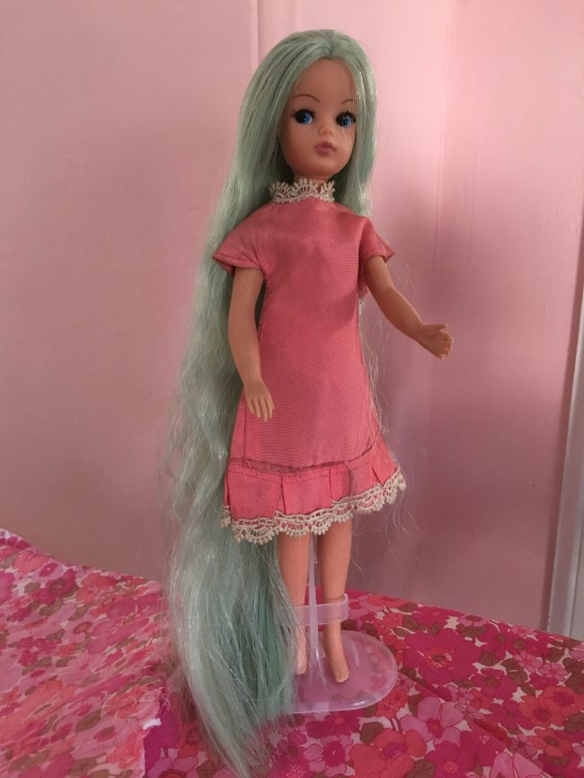 A 1970s girl in a Swinging Sixties dress with modern hair extensions – it's  Helen O'Brien's favourite Sindy