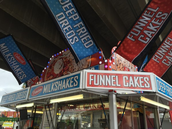 Funnel cake stall, which are plenty.