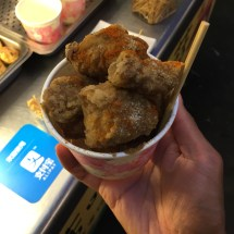 Deep fried king oyster mushrooms