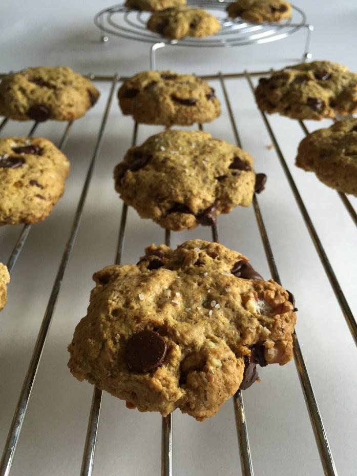 Vegan Whole Wheat Chocolate Chip Cookies.