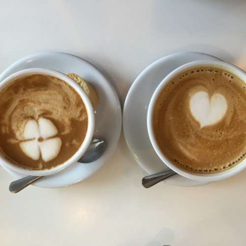 Our delicious lattes with beautiful latte art.